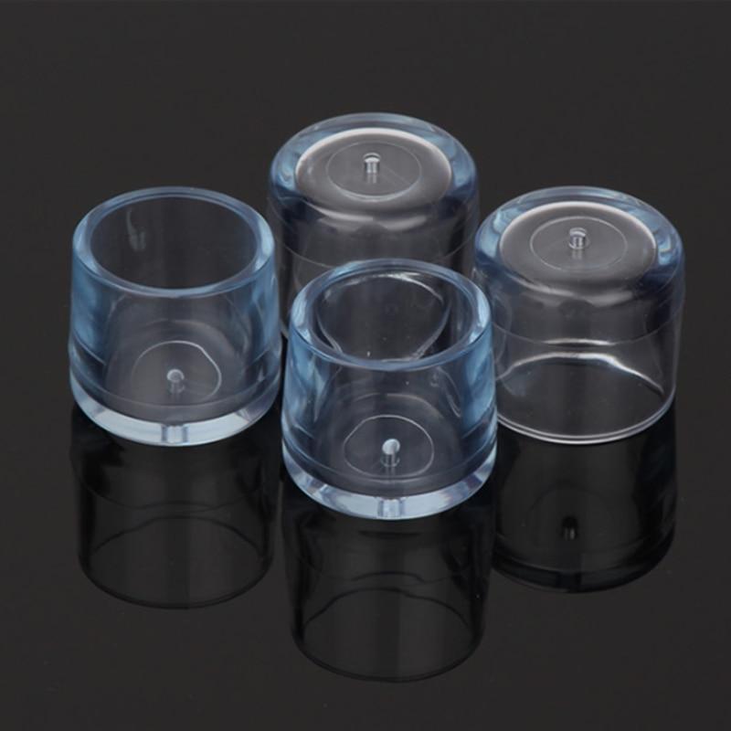 SZS Hot 4Pcs Transparent Rubber Furniture Table Chair Leg Floor Feet Cap Cover Protector 24mm