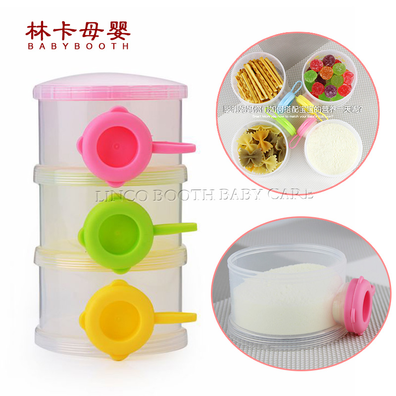 2018 New Fashion Portable Baby Infant Feeding Milk Powder &food Bottle Container 3 Cells Grid Box ...
