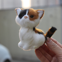 Birthday Gift Handmade Furry font b Animal b font Cat Artificial Cat Gift Decoration Cat Mini