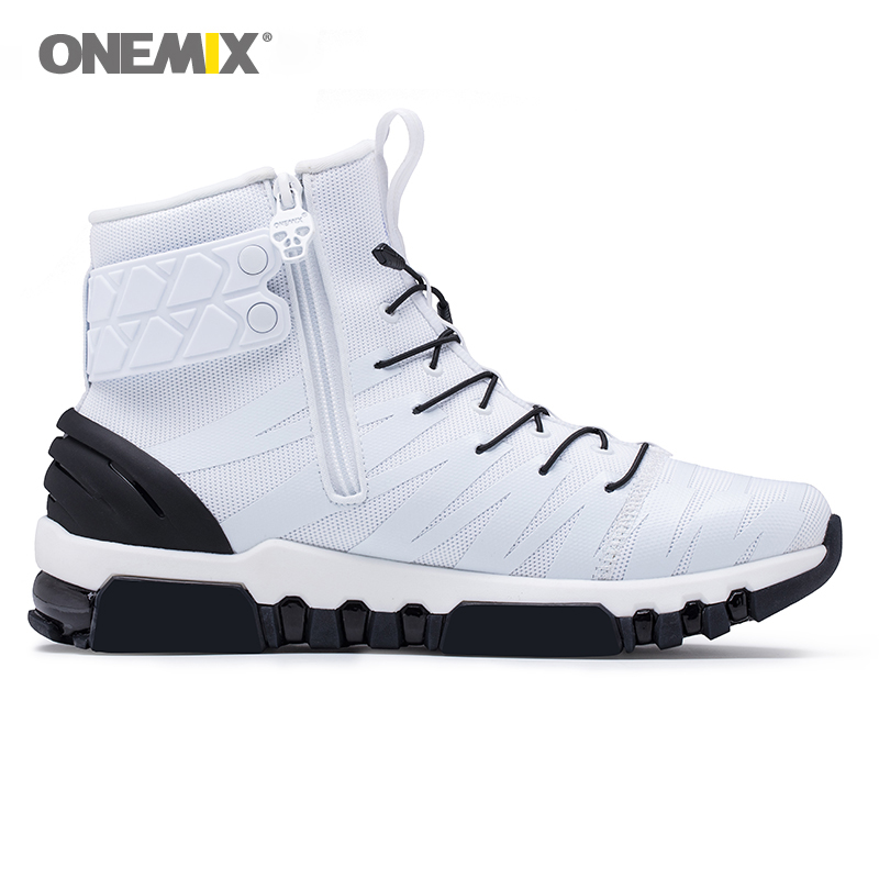 5316beb11 2018 Onemix boots for men running shoes men's High top Light Crosser Fitness  Outdoor Jogging Sneakers Comfortable Running Shoes-in Running Shoes from  Sports ...