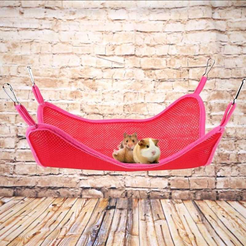 Летняя переноска для хомяка с попугаем, дышащая свинг-коврик, клетка для питомца, птичка, подвесная кровать