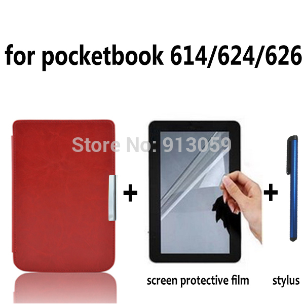 folio smart PU leather cover case for Pocketbook basic Touch lux 614/624/626 ereader case+screen protector free shipping 3d printer parts filament for makerbot reprap up mendel 1 rolls filament pla 1 75mm 1kg consumables material for anet 3d printer