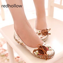 2019 Summer Casual Flat Shoes Women Flats Slip On Loafers Soft Shoes For Women Zapatos Mujer Retro Ethnic Embroidered недорого