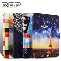 Case For Kindle Paperwhite PU Leather PC Back Cover With Built In Magnet Features Auto Wake