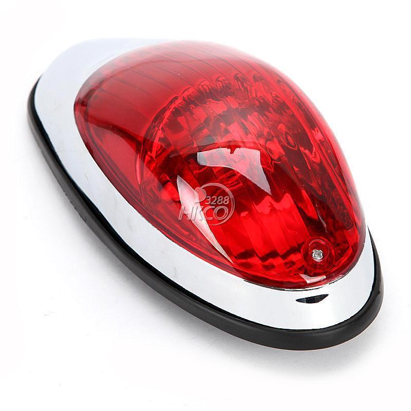 Red Motorcycle Brake Stop Running Tail Light Cafe Racer Bobber Cruiser Chopper