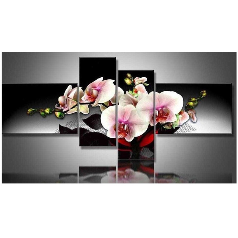 Multigang Romantic orchids 5d Diamond Embroidery painting cross stitch full Square Resinstone craft Room Decor mosaic