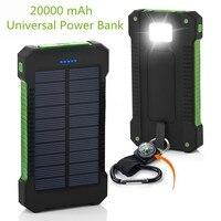 2018 New Portable Waterproof Solar Power Bank 20000mah Dual USB Solar Battery Powerbank For All Phone