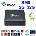 BM8 Android 6.0 4 K Smart TV Box 2G 32G S905X Amlogic Quad Core H.265 BT4.0 Media Player 2.4G & 5G Wifi Mini PC VS T95X TVbox IPTV