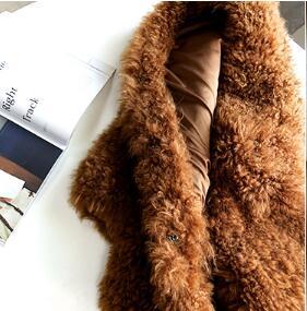 Fourrure Épais Naturelles Mujer Chaud Yolanfairy Manteaux Qualité De face Laine Hiver D'alpaga Chaquetas Femmes Double Manteau Caramel Vestes Mf415 qqw7IH