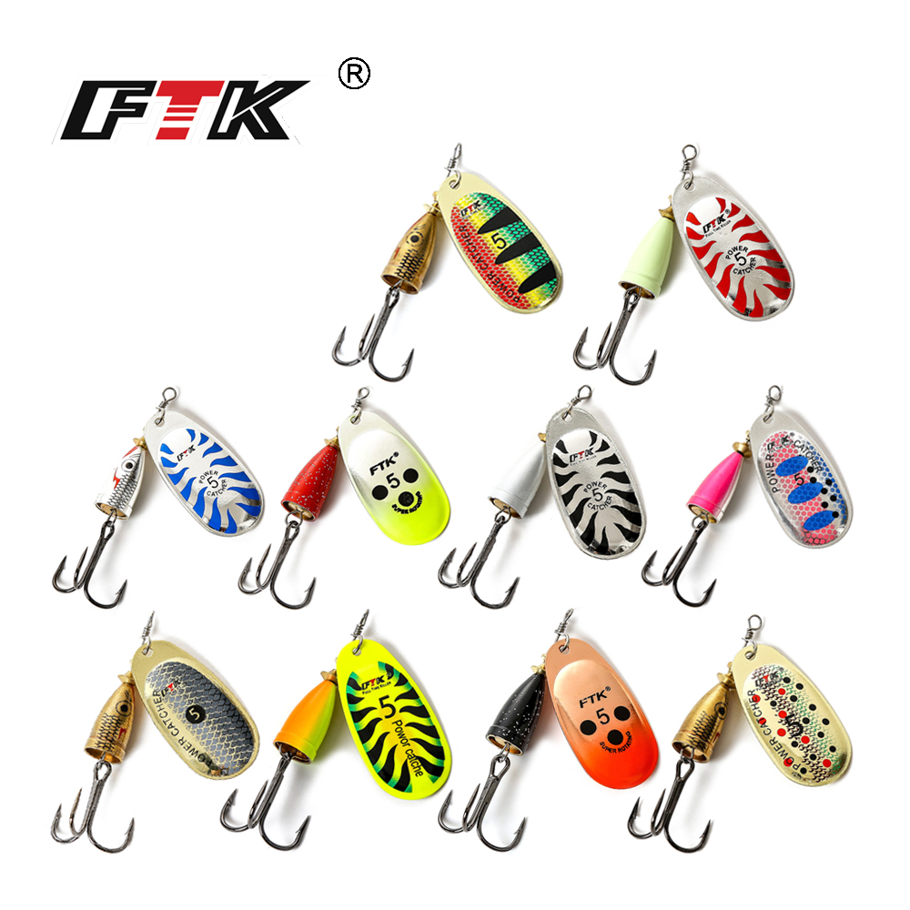 FTK 3#-5# Similar as Mepps Spinner Bait Spoon Lures Fishing Spoon Hard Bait With Mustad Treble Hooks For Carp Lure Fishing trulinoya 1 piece top quality spinner bait 12g 18g spoon fishing lure for freshwater fishing