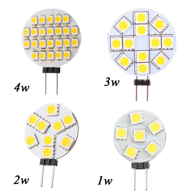 G4 LED Light Bulb Lamp 1W 3W 4W 5W 5050 SMD Spotlight Corn Bulb Car Boat RV Light Cool White Warm White Lighting DC 12V g4 led bulb