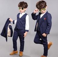 2017 New Style Boy S Formal Suits Boys Spring Blazer Shirt Vest Pants 4 Pcs Set