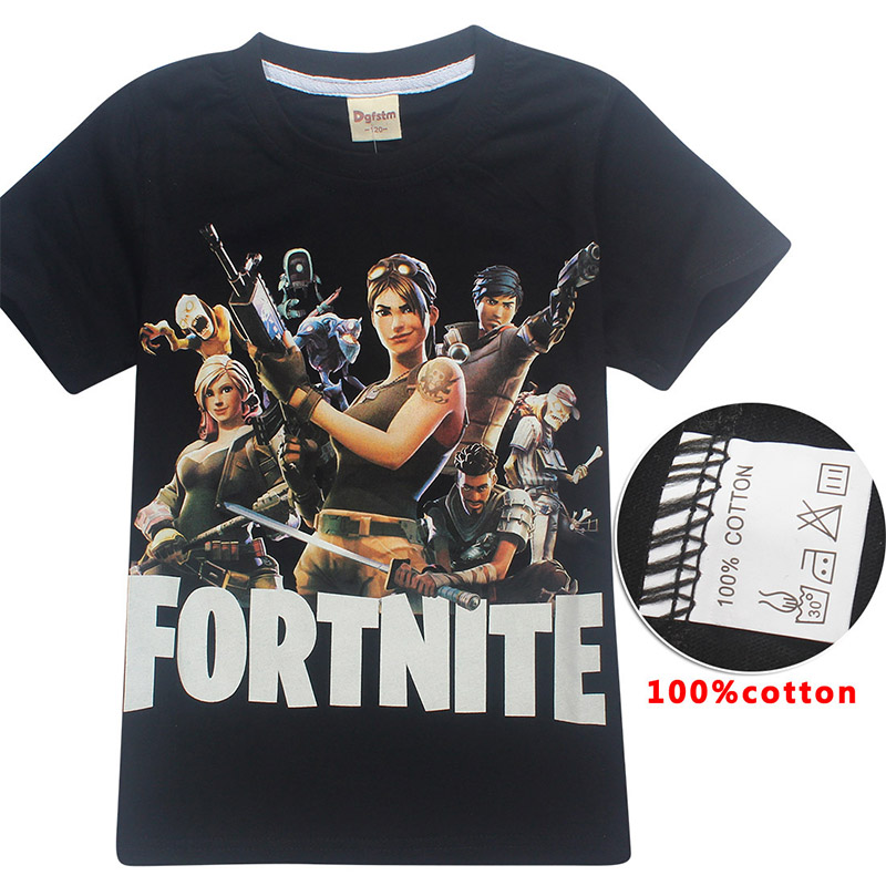 2018 Brand cotton T-shirt Summer Batman Kids Boys Girls Short sleeve Tops Fortnite Gaming Boy Tshirt Teen Clothing C ronaldo