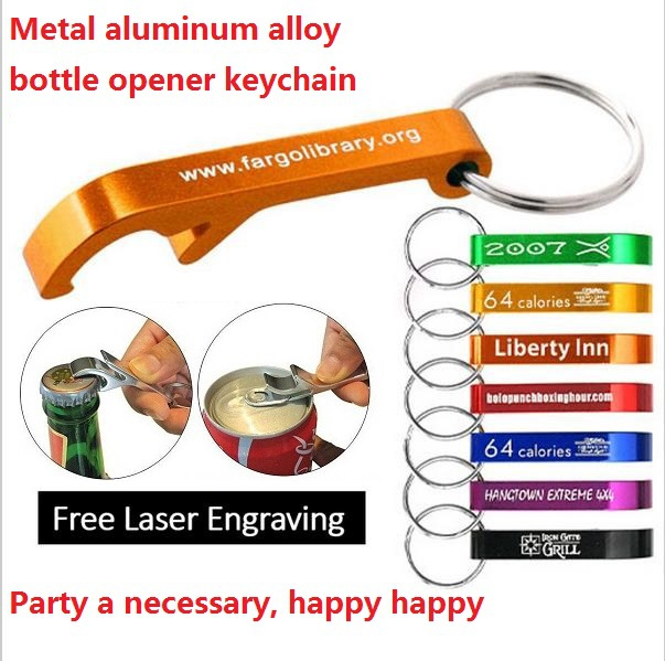 personalized metal aluminium bottle opener keychain. Black Bedroom Furniture Sets. Home Design Ideas