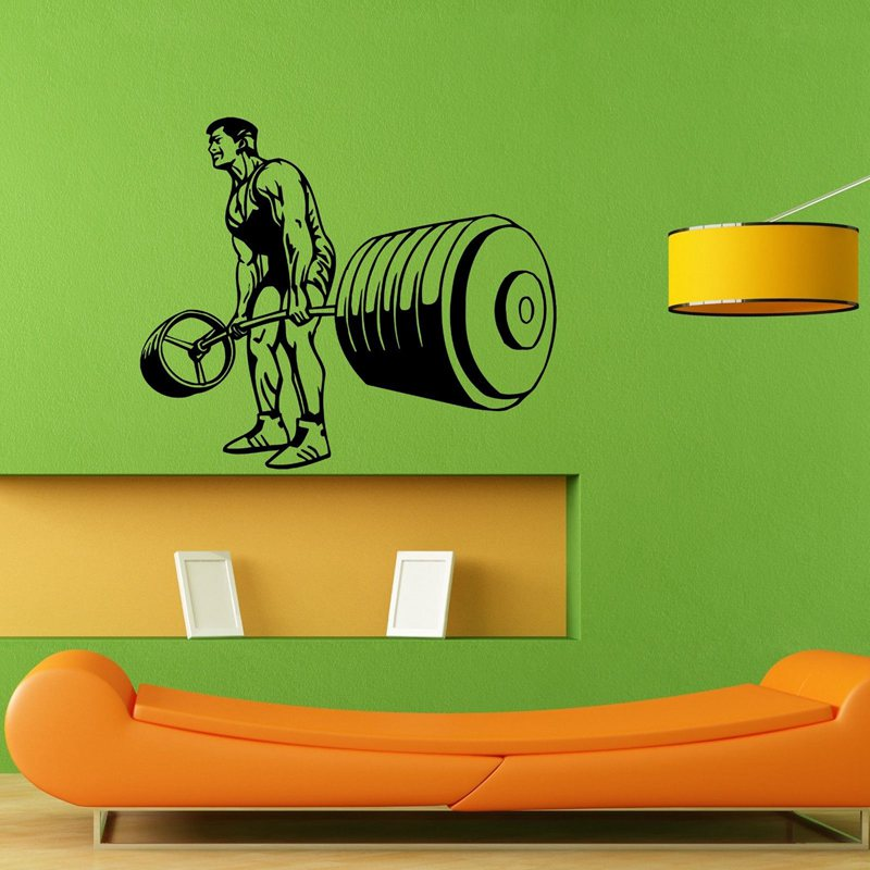 Gym Sticker font b Fitness b font Decal font b Bodybuilding b font Dumbbell Posters Name