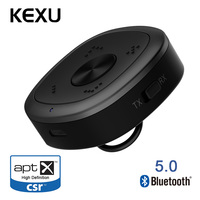 KEXU Bluetooth 5.0 Transmitter Audio 3.5mm Multipoint Stereo Adapter Car Wireless Bluetooth Music Transmitter For PC TV Speaker