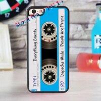 Cassette Depeche Mode Tape Fashion Case For Iphone 4 4s 5 5s SE 5c For 6