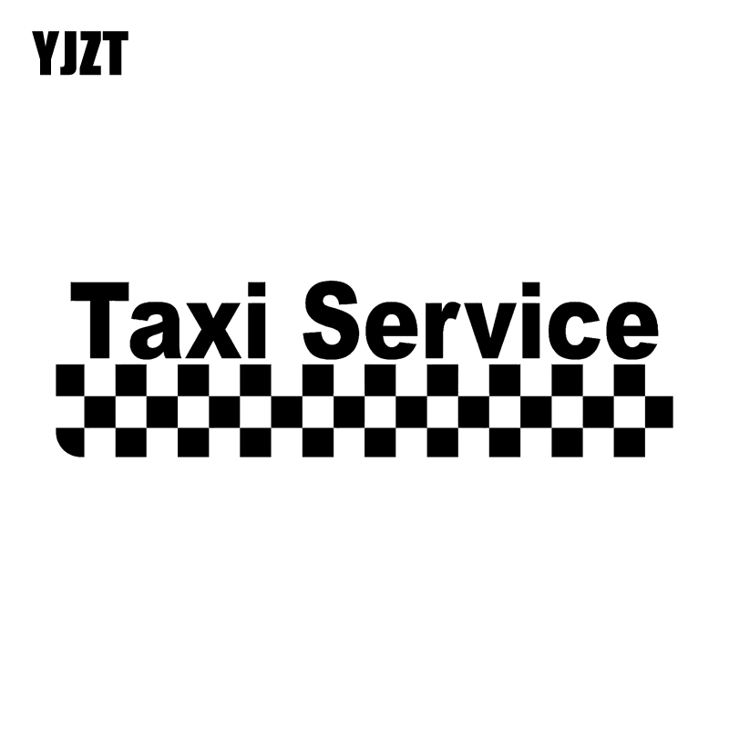 YJZT 15.8*4.5CM Fashion TAXI SERVICE Magnet Vinyl Car Sticker Car-styling Decals Black/Silver S8-1676