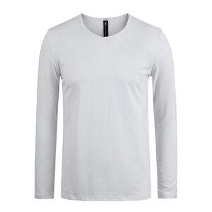 Image 2 - Pioneer Camp แพ็ค 3 แขนยาว T เสื้อแบรนด์เสื้อผ้าผู้ชายเสื้อยืดสำหรับชายชาย TShirt 209008