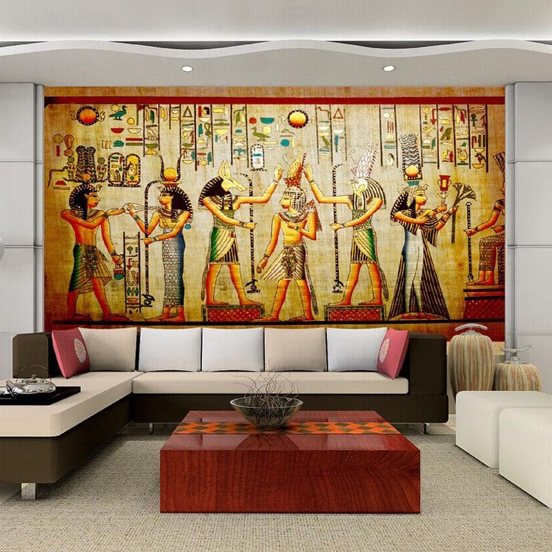 3D Egyptian Wall Murals Vintage Photo Wallpaper Custom ...
