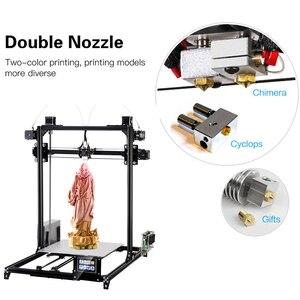 Flsun Große größe 3d Drucker 300x300x420mm Auto Level Touchscreen Daul Extruder DIY 3D Drucker kit Beheizte Bett Schiff von Deutschland