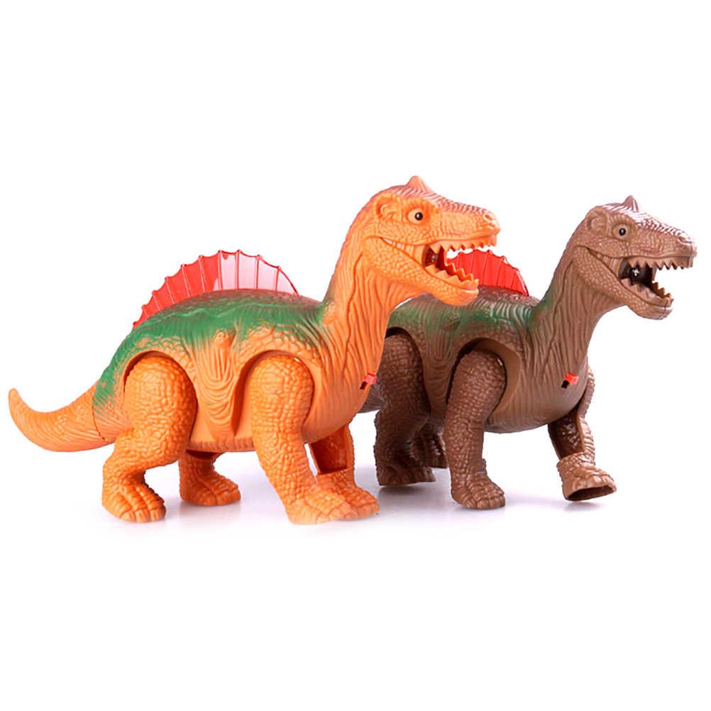 전자 워킹 라이트 빛나는 공룡 로봇 공룡 모델 활활 타오르는 대화 형 디노 장난감 아이들을위한 선물 소년