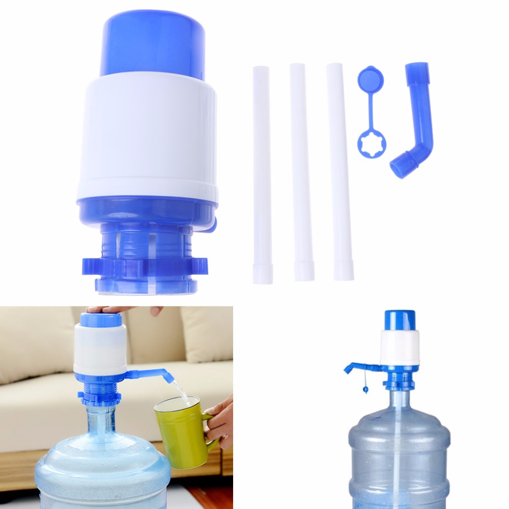Manual Hand Press Pump For Water Bottle Drinking Removable Tube Vacuum Dispenser yj humidifier electric water bottle pump dispenser drinking water bottles suction unit water dispenser kitchen tools