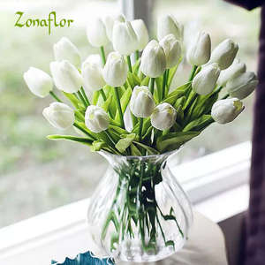 Zonaflor Tulip artificial flowers accessories 31PCS PU Real Touch Wedding Bouquet Decorative Flowers handmade Home Decoration