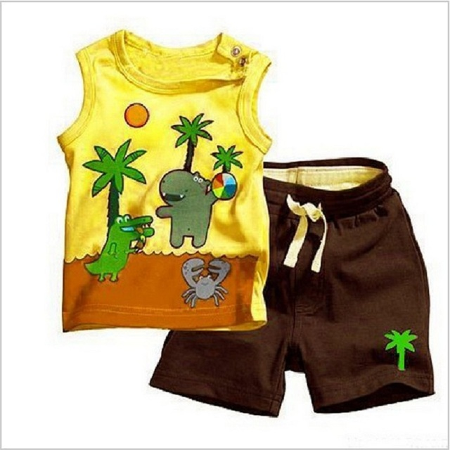 Free Shipping Clearance Summer Infant Baby Boy Clothes Outfits