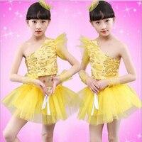 مثير لباس الرقص اللاتينية الأطفال أطفال فساتين مطرزة حزب لاتيني ليوبارد قاعة التانغو رقص التنورة الحجم 100-150 سنتيمتر
