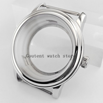 40mm della cassa per orologi vetro zaffiro fit parnis mens watch Meiyouda 8215, 821A, 82 serie, eta2836-in null da Orologi da polso su Goutent Watches Store