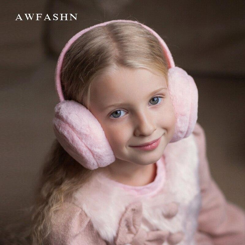 2018 New Winter Adult Children's Warm Earmuffs Women Plush Earcap Lovely Unisex Ear Cover Earwarmers Kids Slouchy Sport