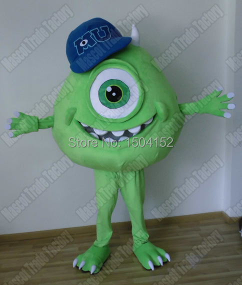 Mike Wazowski costume adulte Mike Wazowski mascotte costume pour adulte Halloween carnaval fête événement