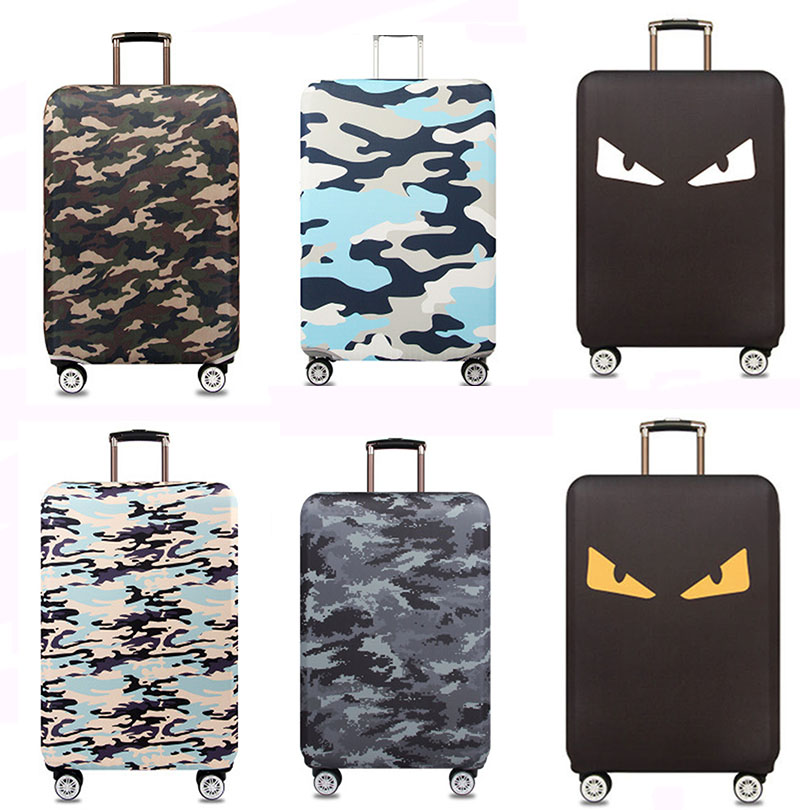 18-32 Inch Camouflage Thicker Travel Suitcase Protective Cover Luggage Case Travel Accessories Elastic Luggage Dust Cover