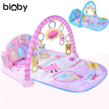Baby Floor Rug Musical Developing Gym Mat Kids Children Fitness Rack Baby Toys Piano Music Blanket Play Intellectual Development(China)