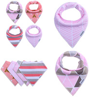 5 Styles 4pcs A Lot Burp Cloths Brand Baby Bibs Saliva Towel Plain Arrow Animal Cartoon