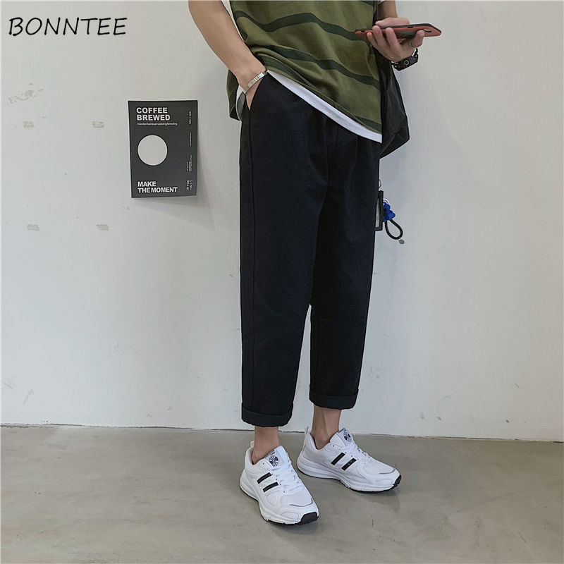 Pants Men Retro High Quality Comfortable All Match Simple Hot Sale Mens Korean Style Loose Males Ulzzang Fashion Trousers Chic