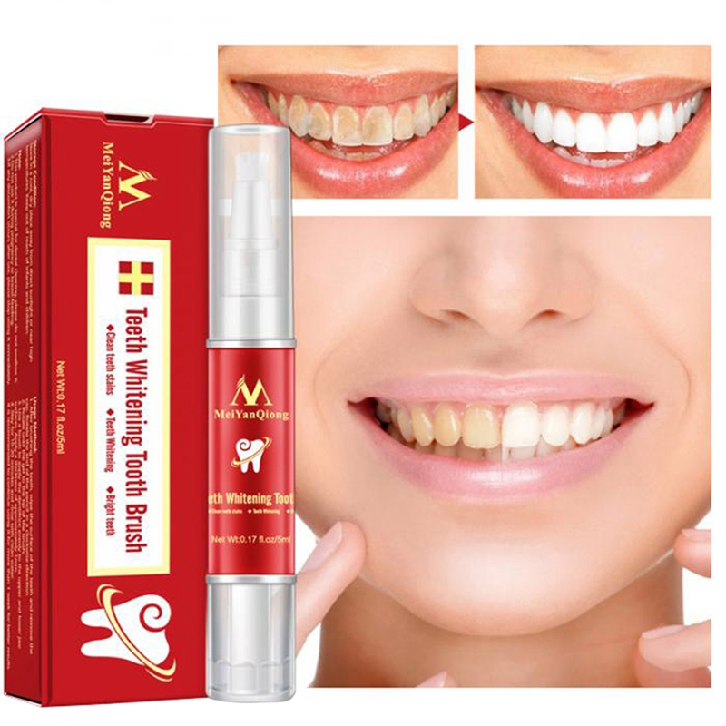 Remove Stains White Teeth Whitening Pen Tooth Gel Whitener Bleach Oral Hygiene Tooth Brush Essence