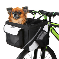 Outdoor Cycling Oxford Fabric Bicycle Hard wearing Handlebar Basket Bike Front Basket for Pet Dog & Cat Carrier Bike Accessory