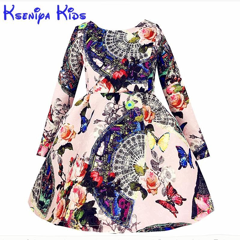 862da984d36e7 Detail Feedback Questions about Sale Brand Vintage Baby Girl Dress Winter  Long Sleeves Thicken Girls Warm Cotton Dresses Flower High Grade Age 10  Zk040916 ...