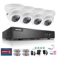 ANNKE 4CH CCTV System HDMI AHD CCTV DVR 4PCS IR Outdoor Security Camera 800 TVL Camera