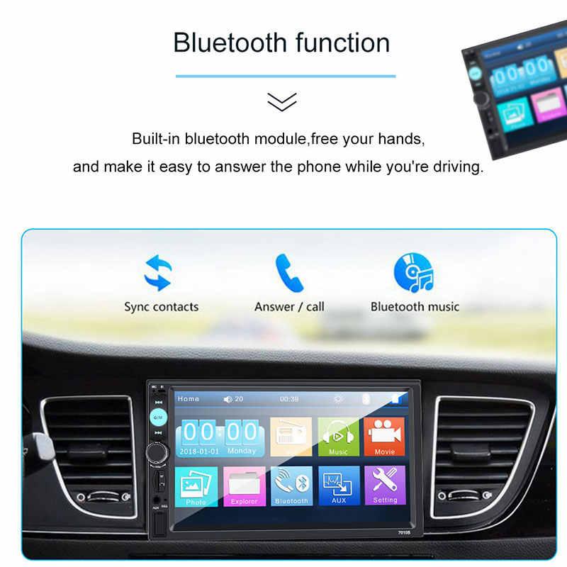 カーラジオ 2 din プレーヤーミラーリンク autoradio 一般的な車のモデル 7 ''インチ Lcd タッチスクリーンの Bluetooth オートステレオリアビューカメラ