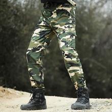 Spodnie wojskowe taktyczne armii styl SWAT spodnie kamuflażowe mężczyźni pracują na co dzień Paintball walki kombinezony kamuflaż militarne spodnie 3 kolory tanie tanio Pełnej długości Cargo pants REGULAR Poliester COTTON Midweight Mieszkanie Suknem Zipper fly Tactical pants-MZ6 Kieszenie