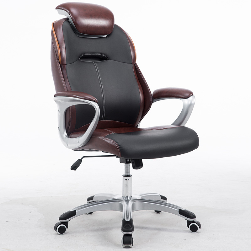 High Back Leather Executive Ergonomic Office Desk Chair with Back Support and Arms Office Furniture Modern Comuter Desk Chair racing bucket seat office chair high back gaming chair desk task ergonomic new hw54987ltbl