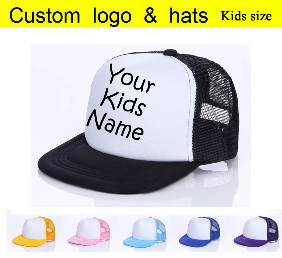 9a40c4876e4ca 2018 Kids Baby Child Name Custom Trucker Hat Printed Name Children ...