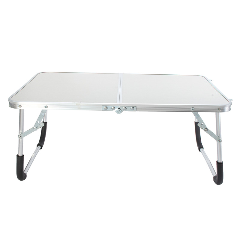 white portable laptop desk folding table stand bed tray camping dining outdoor new laptop stand holder - Plastic Folding Tables