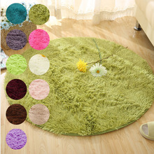 European Round Carpet for Silk Living Room Coffee Table Carpet Bedroom Bedside Computer Chair Hanging Basket Yoga Fitness Pad