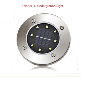 Image 2 - Solar LED Lawn Light Warm/Cool White Ground Lamp Waterproof Buried/Garden/Landscape Channel Outdoor Lighting