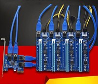 NEW Aad In Card PCIe 1 To 4 PCI Express 16X Slots Riser Card PCI E
