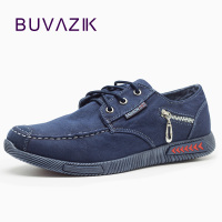 New Casual Canvas Men Shoes 2017 Hard Wearing Rubber Classic Denim Fabric Fashion Shoes Zipper Decoration